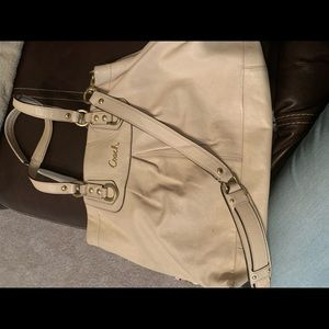 Coach tote leather